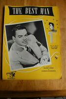 """VINTAGE """"THE BEST MAN"""" SHEET MUSIC 1946 ROY ALFRED FRED WISE LES BROWN"""