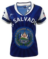 El Salvador and USA Jersey Arza Design For Women_V Neck_100% Polyester_New