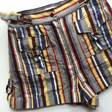 Zimmermann Shorts 2 Striped Grey Nautical High Waisted Linen