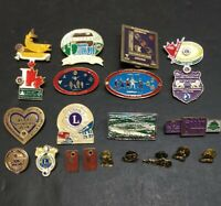 LIONS CLUB INTERNATIONAL VINTAGE 21 PIN LOT - District A4 + Others