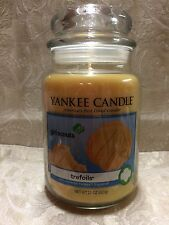 Yankee candle TREFOILS (Butter Sugar Cookies) GIRL SCOUT LARGE JAR CANDLE