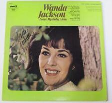"WANDA JACKSON Signed Autograph ""Leave My Baby Alone"" Album Vinyl Record LP"