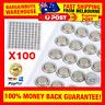 100pcs 1.5V AG3 LR41 SR41 392 192 LR736 Lithium Battery Button Coin Batteries