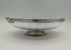 Fine Quality Art Deco Silver Pedestal Bowl Edward Barnard, London 1925 W 286 G