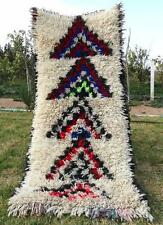 "Handmade Moroccan Azilal Rug 100% Wool Berber Carpet Wool Rug 5'3"" x 2'3"""