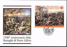 Vatikan Vaticano 2012 FDC Block 38 Milvische Brücke BATTAGLIA DI PONTE MILVIO