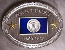 Pewter Belt Buckle Kentucky State Flag NEW CSA
