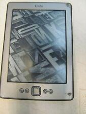 "Amazon Kindle D01100 Wi-Fi 6"" E Ink Display 2GB Grey MARKS inc VAT 07GB"