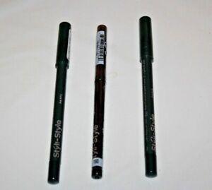 Styli Style Eye Line & Seal Waterproof 24 Hr 2x#126 + Glitter #160 Lot Of 3 New