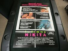 One sheet 27x41 Movie Poster La Femme Nikita 1991 Jeanne Moreau Jean Bouise