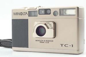 [N MINT Strap] Minolta TC-1 TC1 Silver Point & Shoot 35mm Film Camera from JAPAN