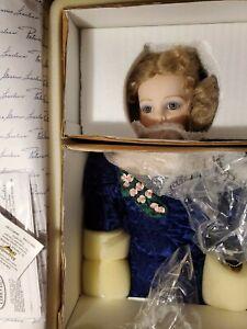 "RHAPSODY IN BLUE PORCELAIN DOLL BY PATRICIA LOVELESS IN BOX CERTIFICATES29"""
