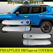 2015 2016 2017 JEEP RENEGADE Triple Chrome Door Handle COVERS w/smart key trims