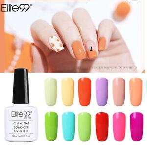 Elite99 UV LED Macaron Colour Gel Nail Polish Top Base Manicure Lacquer Soak Off