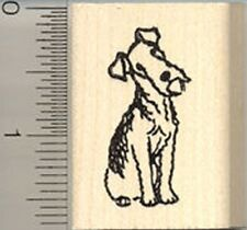 Small Welsh Terrier Rubber Stamp Wood Mounted C8117 dog