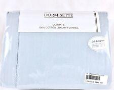 THE BEST Thick German Cotton Flannel Sheet Set Dormisette Cal King Lt Ice Blue