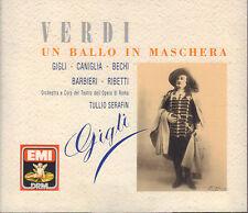 VERDI / SERAFIN & GIGLI - UN BALLO IN MASCHERA (1989 2-CD REISSUE EUROPE)