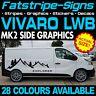 VAUXHALL VIVARO MK2 LWB GRAPHICS STICKERS STRIPES DECALS CAMPER VAN MOTORHOME