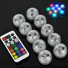 Static/Flash/Strobe/Fade/Smooth LED Underwater Tea Lights Colorful with Remote