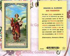 Oracion al Glorioso San Pancracio - Spanish - Laminated  Holy Card