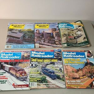 Model Railroader Magazine Lot  various issues.  See pics.