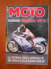 MOTO TECNICA n°9 1990 Bimota YB 90 - Tecnica Ufficiali Parigi Dakar  [P74]