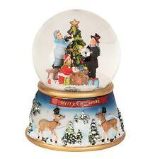 Spieluhr Schneekugel mit Licht und Bewegung Ø 10cm x  H 15cm Weihnachten