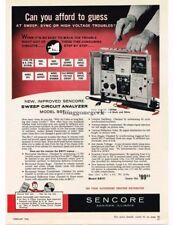 1962 Sencore SS117 Sweep Circuit Analyzer Vtg Print Ad