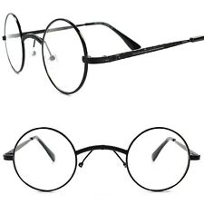 ce33873bd38 Classic Vintage Retro 80s Style Wide Bridge Black Round Clear Lens Eye  Glasses