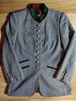 H MOSER Salzburg Vintage Womens Suit Jacket Blazer Wool Gray