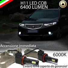 COPPIA LAMPADE H11 LED CANBUS FENDINEBBIA HONDA ACCORD VIII 6400L 6000K NOERROR