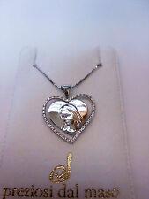 Collana Argento 925 + ciondolo a Cuore con Zirconi