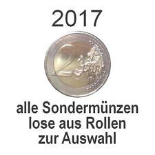2 Euro 2017 - alle lose verausgabten Gedenkmünzen - bankfrisch aus Rollen
