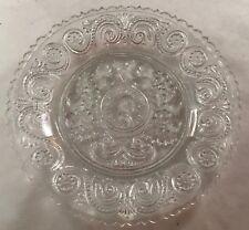 ANTIQUE AMERICAN SANDWICH GLASS PRESSED PLATE HISTORIC GEORGE WASHINGTON & ACORN