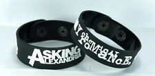 ASKING ALEXANDRIA MY CHEMICAL ROMANCE  NEW! 2pcs(2x) Bracelet Wristband 2AA7