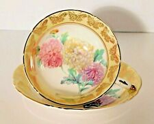 Paragon Chrysanthemum & Butterfly Yellow/ Gold Floral Cup and Saucer