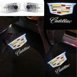 2x For Cadillac CTS SRX ATS XTS LED Logo Door Step Courtesy Shadow Laser Light