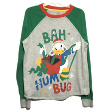 Disneys Donald Duck Uncle Scrooge Bah Humbug Christmas T shirt Size large Cotton