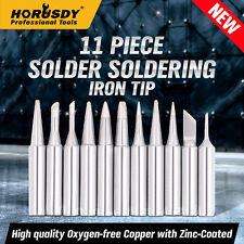 11PCS Solder Screwdriver Iron Tip 900M-T for Hakko Soldering Rework Station Tool