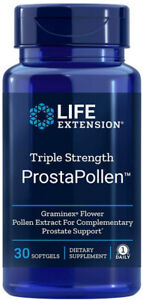 TRIPLE STRENGTH PROSTAPOLLEN PROSTATE HEALTH 30 softgels  LIFE EXTENSION