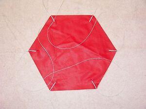 "Rip Stop Nylon Parachute 9"" Red"