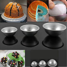 3 Sizes 3D Stainless Steel Ball Sphere Bath Bomb Cake Pan Baking Pastry Mould
