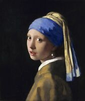 Girl with a Pearl Earring by Johannes Vermeer, Canvas Print, in various sizes