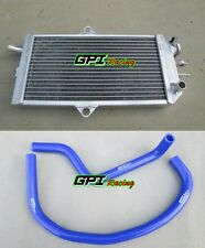 Aluminum radiator + Blue HOSE for 1985-1992 SUZUKI LT250R Quadrace 250 86 87 88
