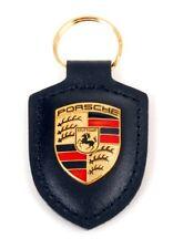 718 GTS 918 911 Macan Porsche Wappen Schlüsselanhänger Leder schwarz original