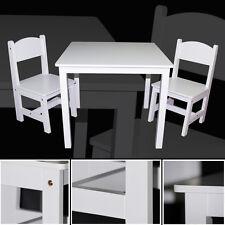 Kindertisch & 2x Kinderstühle WEISS Schreibtisch Tisch Sitzgruppe Stuhl Set