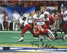 "Tony Gilbert Autographed/Signed Sec Georgia Bulldogs Ncaa 8x10 Photo ""Tackling"""
