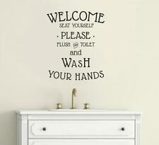 New ListingWelcome Seat Yourself Bathroom Decor Vinyl Decal Wall Sticker Words Letters