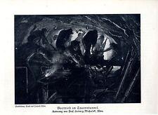 Vortrieb im Tauerntunnel von Ludwig Michalek Künstlerisch Berufsdarstellung 1929