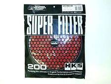 HKS SMF Air Intake Replacement Filter (200mm/Red/Wet Element)